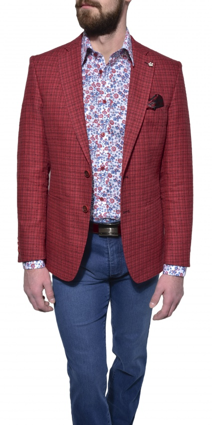 LIMITED EDITION red linen blazer