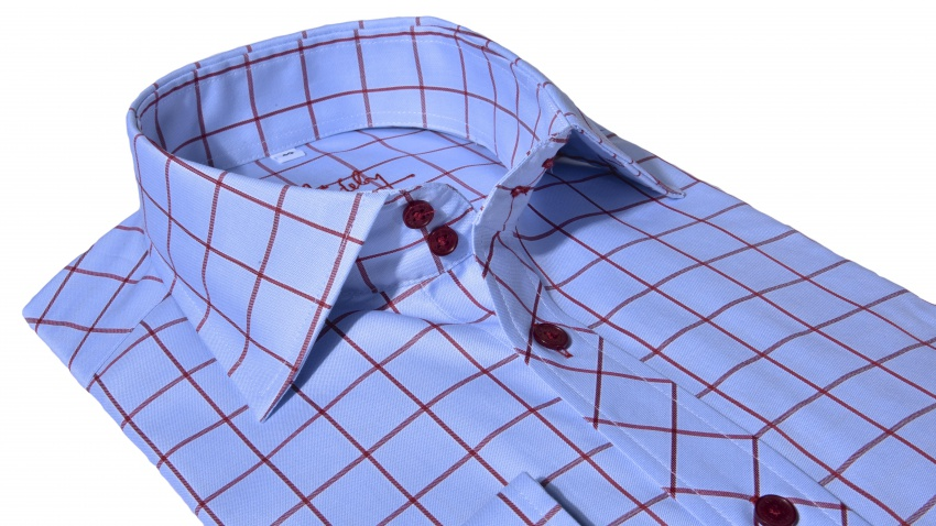 Blue checkered Slim Fit shirt