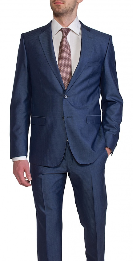 LIMITED EDITION Blue - grey suit from a wool/silk blend material
