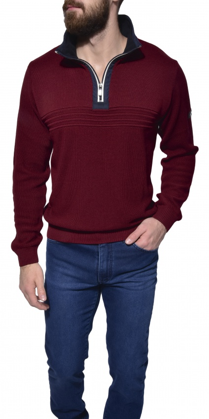 Burgundy casual pullover