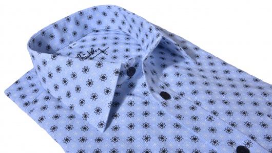 Voľnočasová Slim Fit košeľa s kvetinovým printom