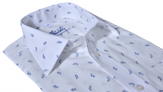 White Slim Fit printed shirt