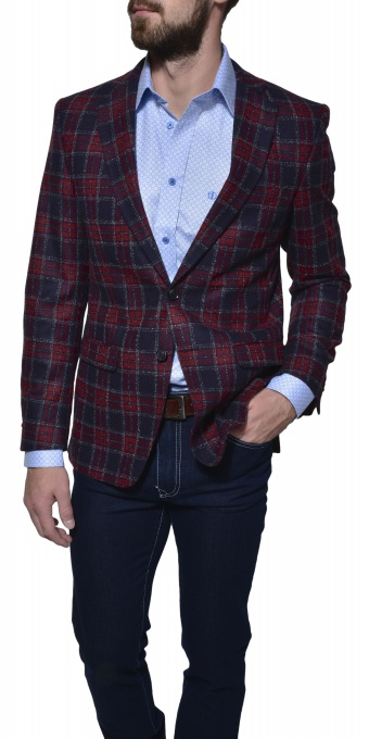 LIMITED EDITION burgundy checkered blazer