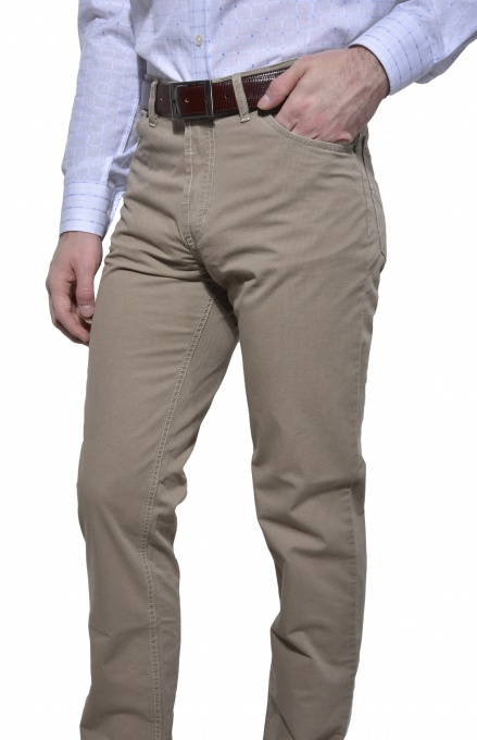 Casual khaki trousers