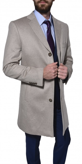 LIMITED EDITION Khaki cashmere coat