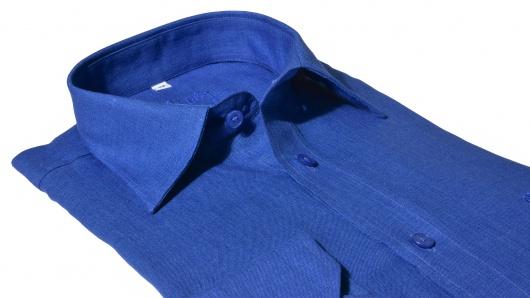 Tmavomodrá Slim Fit ľanová košeľa