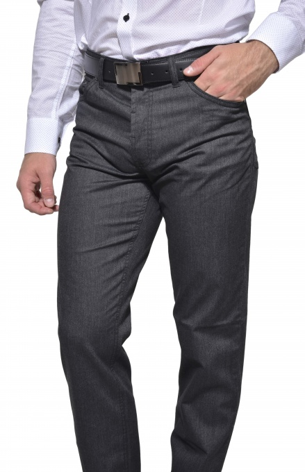Anthracite five pocket trousers