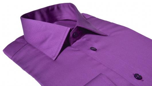 Fialová Slim Fit košeľa