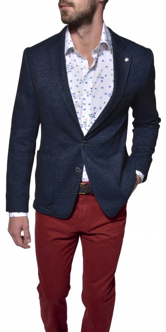 Blue unstructured blazer