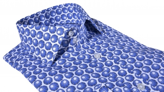 LUXURY LINE Modrá Extra Slim Fit košeľa
