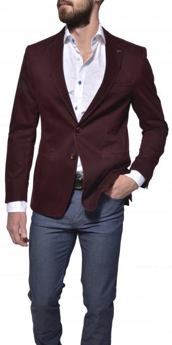 Burgundy cotton blazer