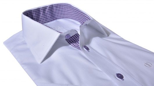 White Slim Fit short sleeved shirt