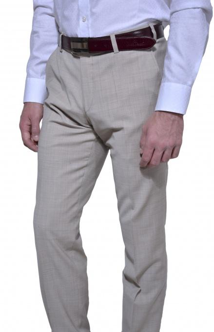 Béžové spoločenské nohavice
