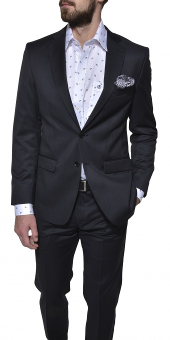 LIMITED EDITION black wool suit