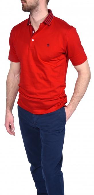 Červená piqué polokošeľa