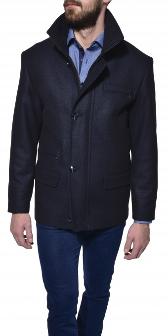 Dark blue ovearcoat