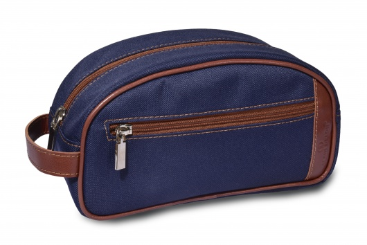 Blue toiletry bag