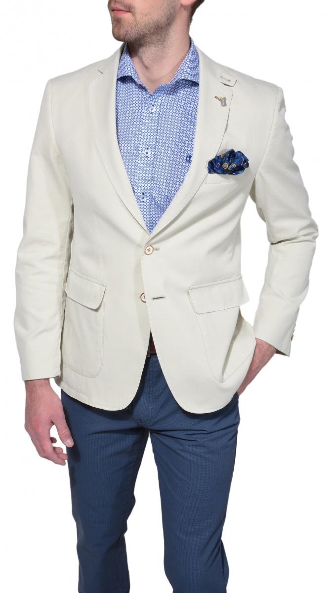 Béžové bavlnené sako