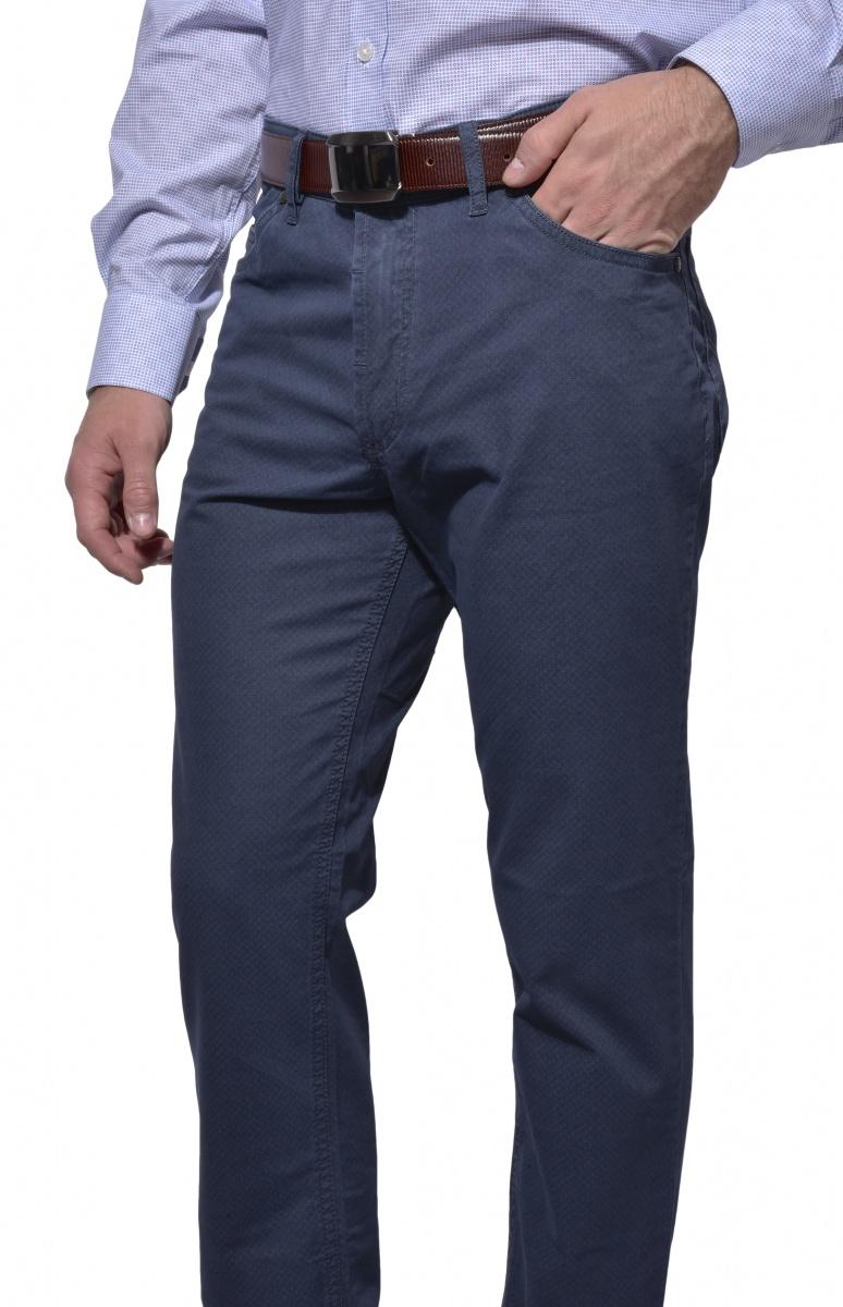 Modré bavlnené nohavice