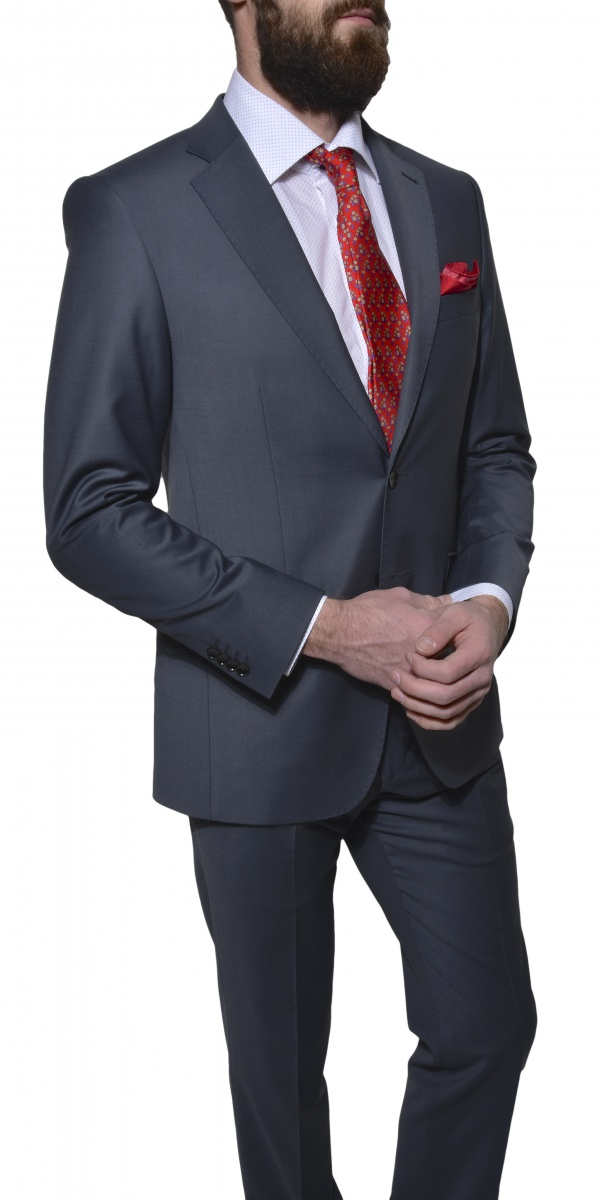 Šedý Slim Fit oblek