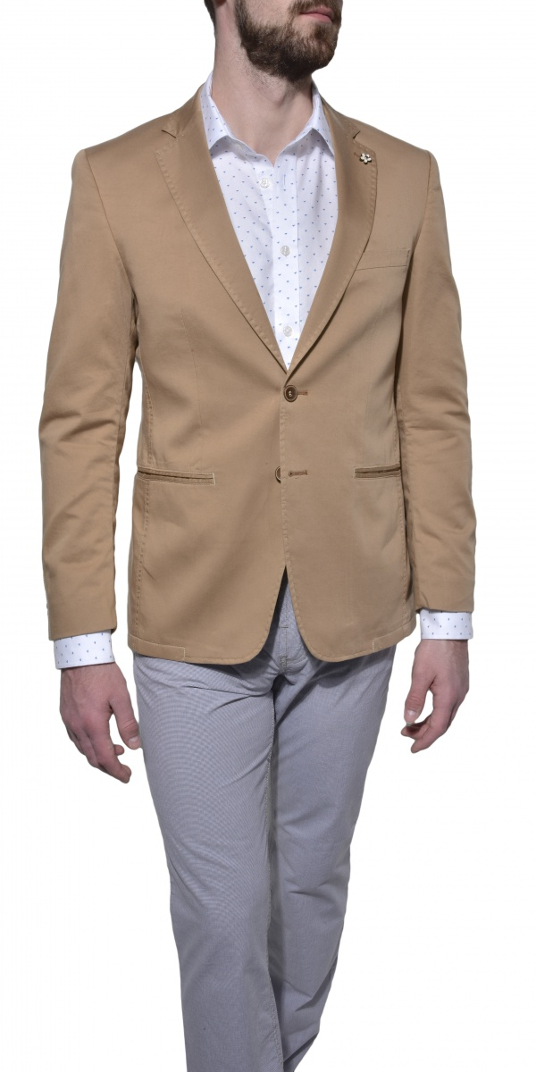Light brown cotton blazer
