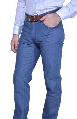 Bledomodré jeansy