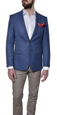 Modré ľanové sako