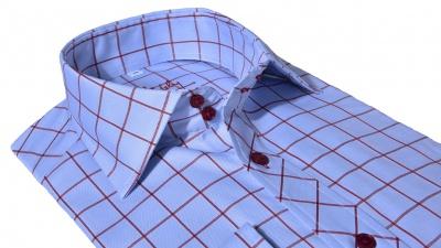 Modrá károvaná Slim Fit košeľa