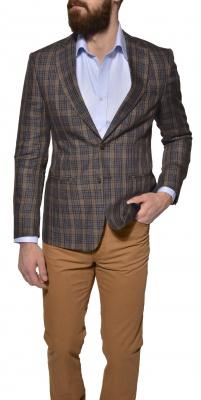 LIMITED EDITION checkered linen blazer