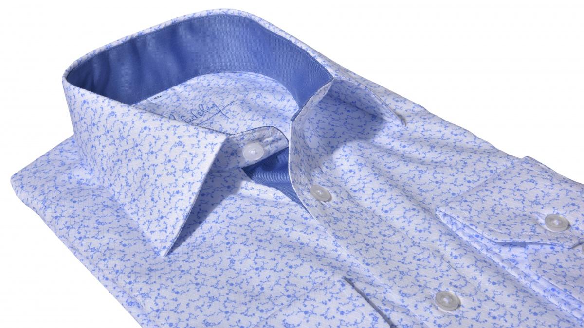 LUXURY LINE bold printed Slim Fit shirt