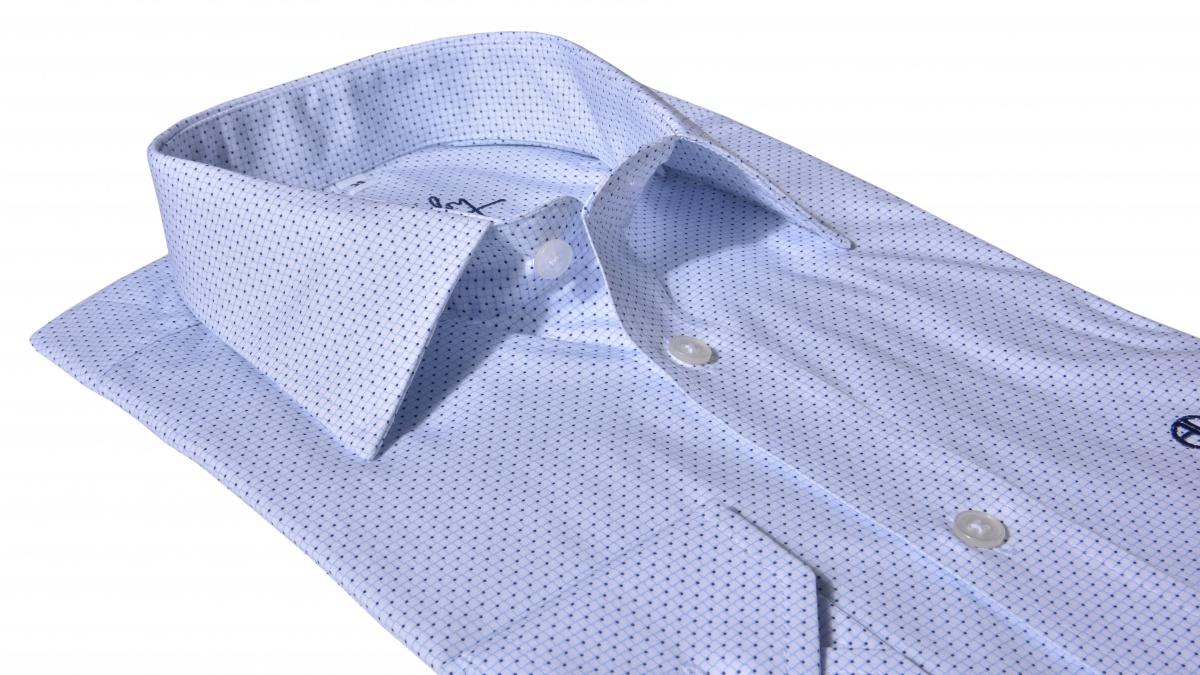 Biela vzorovaná Slim Fit košeľa