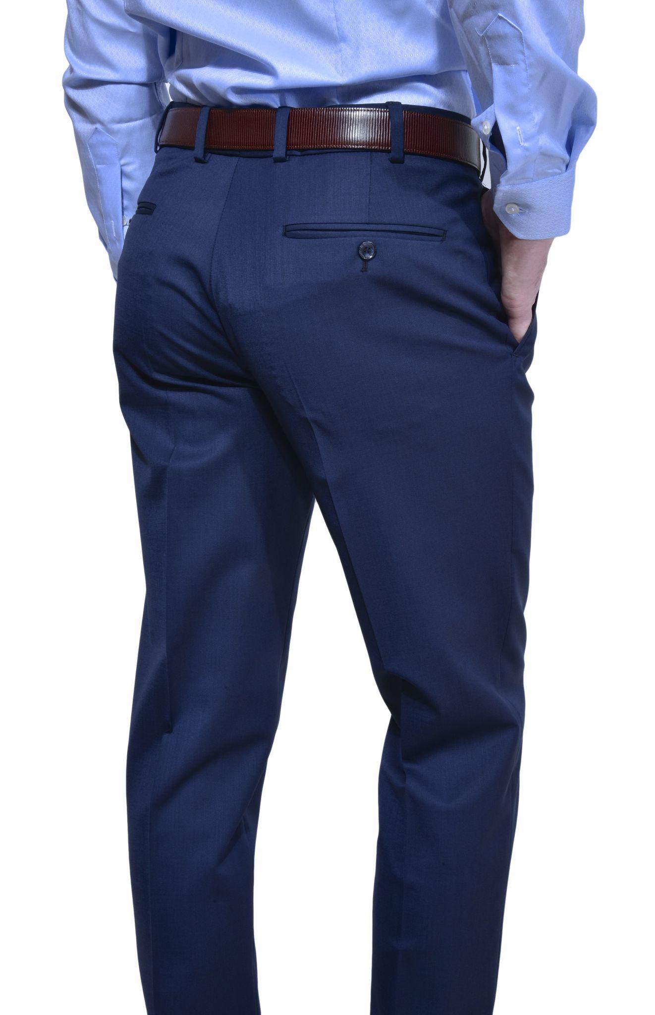 Dark blue suit pants -...
