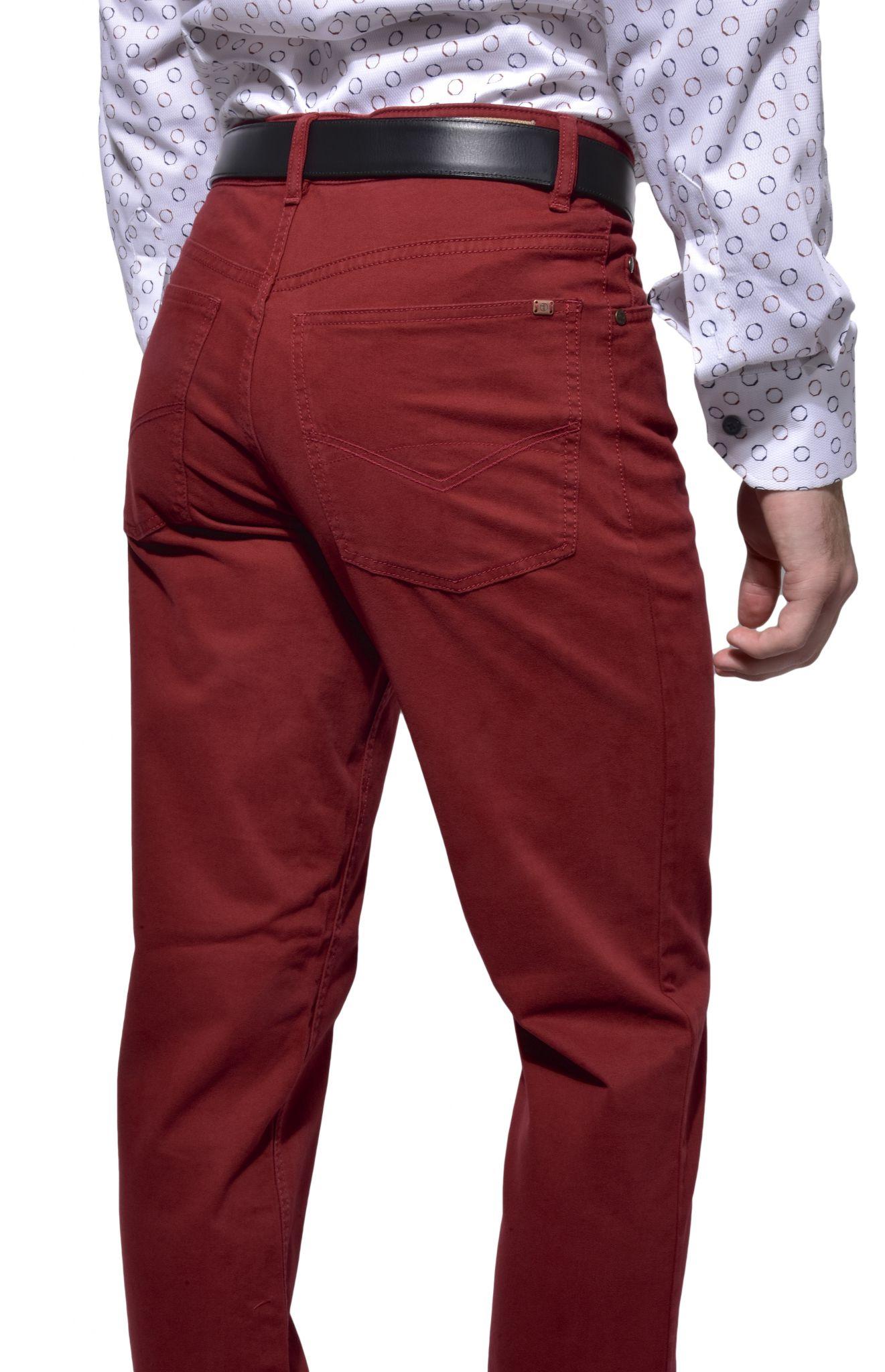 Bordové päťvreckové nohavice Bordové päťvreckové nohavice 15f2398ec98