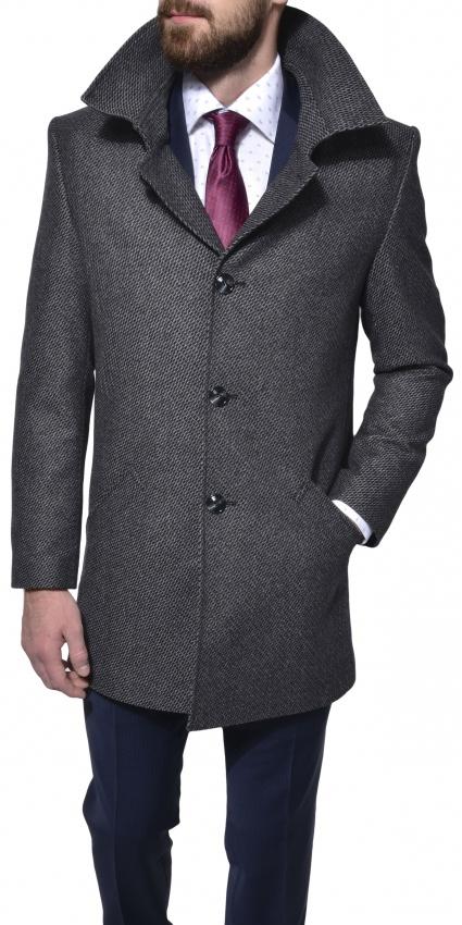 Šedý flaušový kabát
