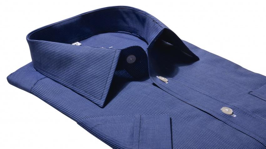 Dark blue Classic Fit short sleeved shirt