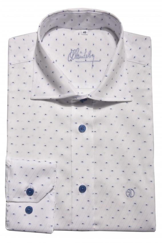 Biela Classic košeľa s printom