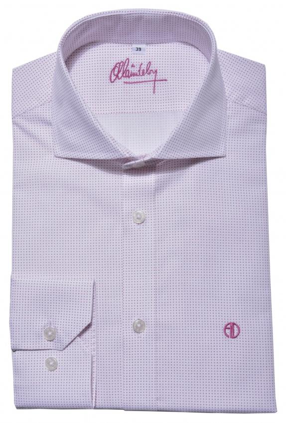 Bielo - ružová Slim Fit košeľa s printom