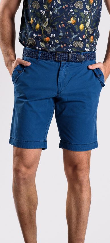 Modré krátke nohavice