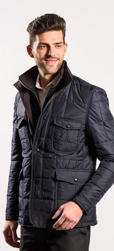 Dark blue padded jacket