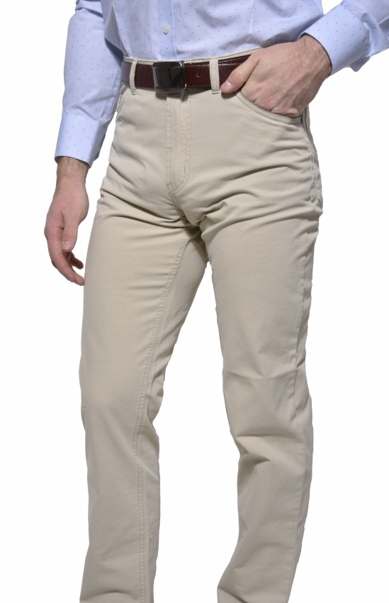 Béžove voľnočasové nohavice