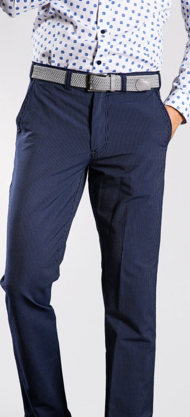 Tmavomodré krepové nohavice