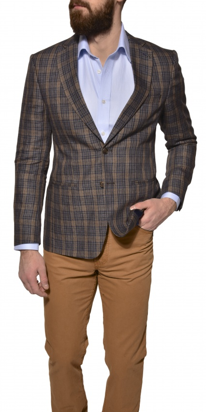 LIMITED EDITION checkered linen blazer