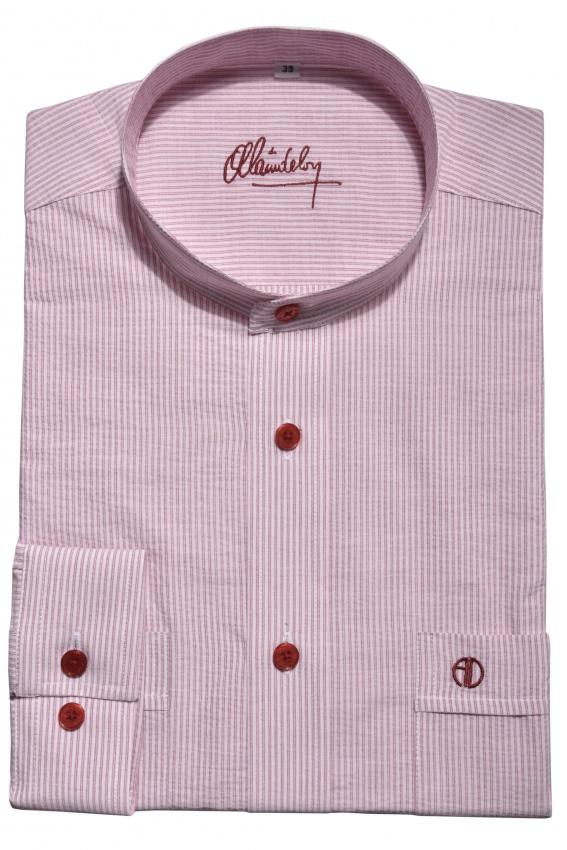 Casual Slim Fit shirt with mandarin collar
