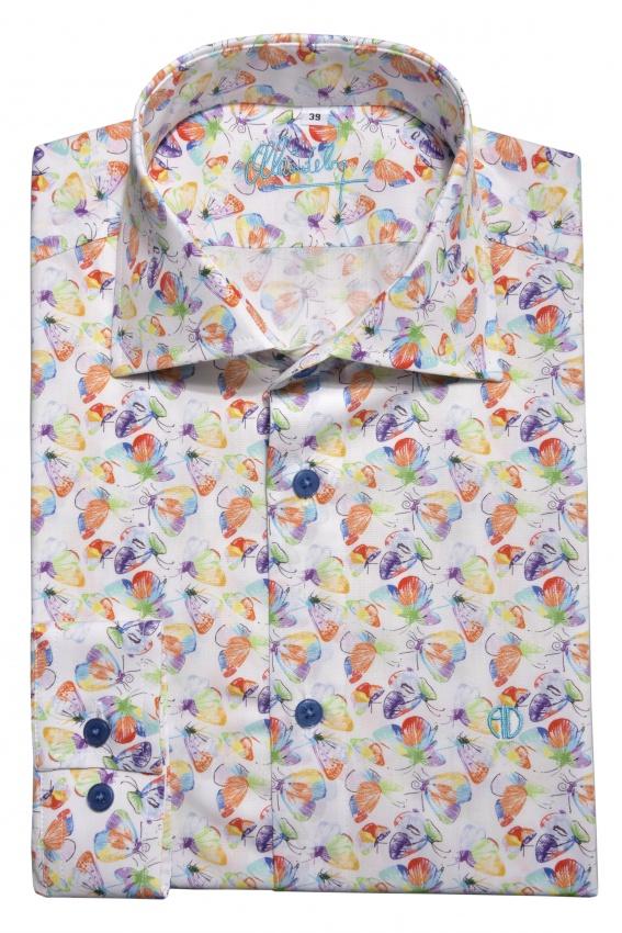 Letná Extra Slim Fit košeľa s printom