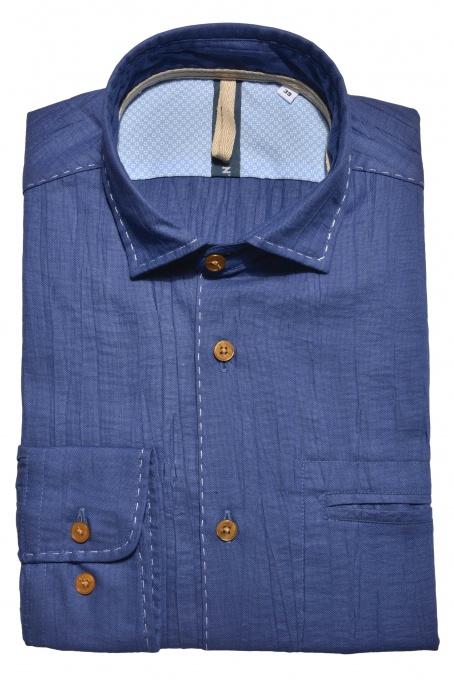 Tmavomodrá Extra Slim Fit Oxfordská košeľa