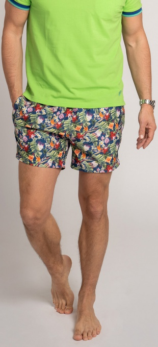 Flower patterned swim shorts