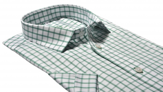 Checkered Slim Fit short sleeved shirt