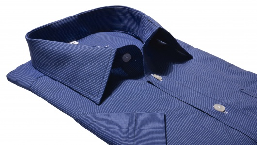 Dark blue Classic Fit short sleeved shirt