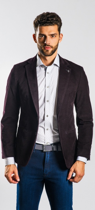 Dark brown cotton Basic blazer