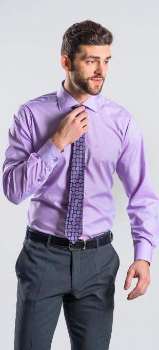 Purple Slim Fit shirt - Basic Line